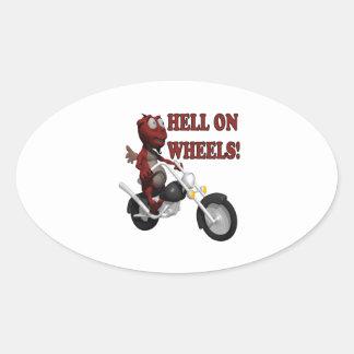 Hell On Wheels Oval Sticker