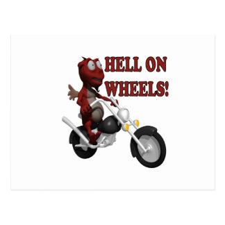 Hell On Wheels Postcard