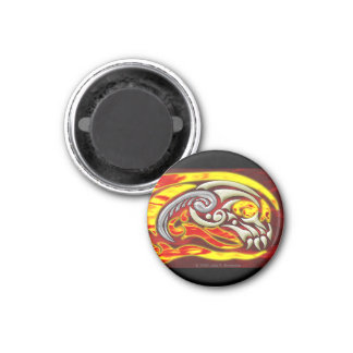 Hell On Wheels Round Magnet