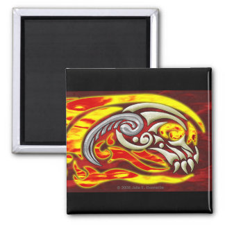 Hell On Wheels Square Magnet