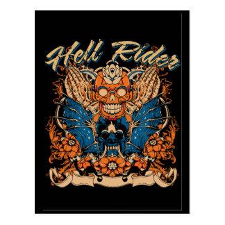 hell rider postcard