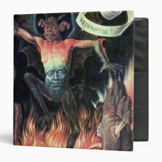 Hell, right hand panel from Triptych of Earthly 3 Ring Binder