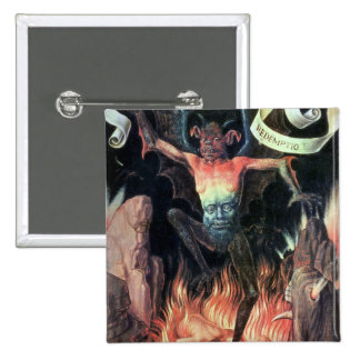 Hell, right hand panel from Triptych of Earthly Pinback Button