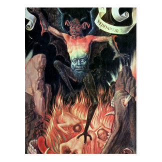 Hell, right hand panel from Triptych of Earthly Postcard