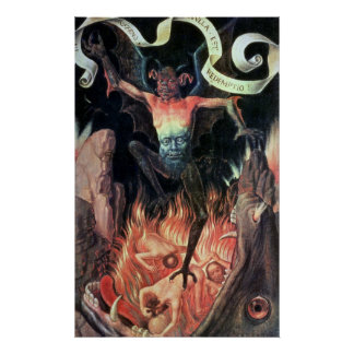 Hell, right hand panel from Triptych of Earthly Poster