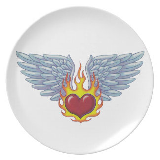 Hell s Flames and Angel s Wings Party Plates