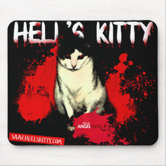 Hell s Kitty mousepad