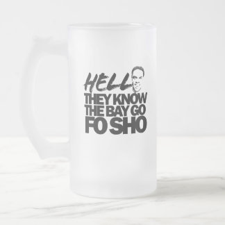 Hell They Know Frosted Glass Beer Mug