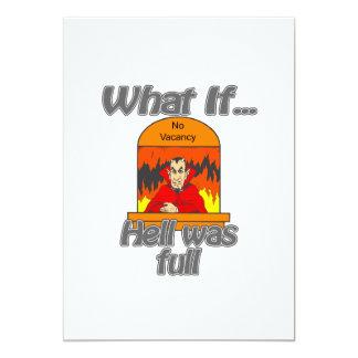hell was full custom invitations