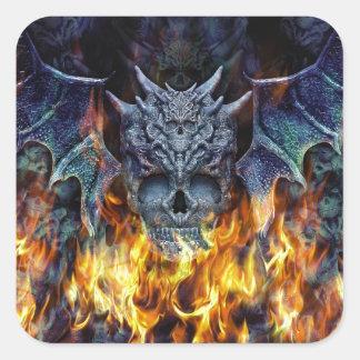 Hell wings II. Square Sticker