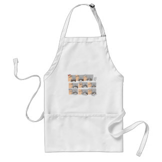 Hell Working Day Cartoon by Sam Backhouse Adult Apron