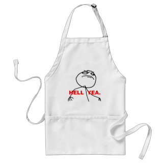 Hell Yea Rage Face Meme Adult Apron