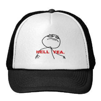 Hell Yea Rage Face Meme Trucker Hat