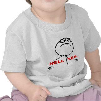 Hell Yea Rage Face Meme Shirts