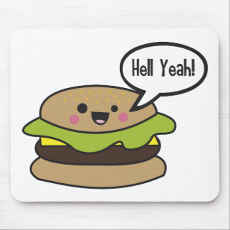 Hell Yeah Burger Mouse Pad