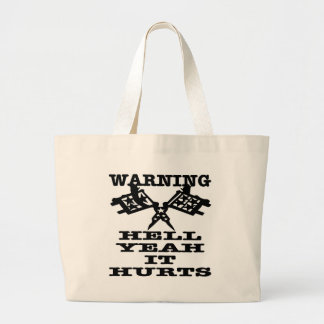 Hell Yeah It Hurts Tattoo Large Tote Bag