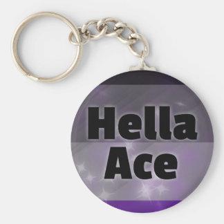 Hella Ace Basic Round Button Keychain