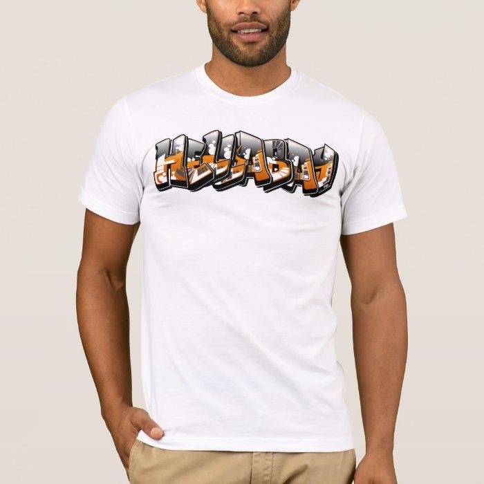 Hella-Bay Traxx (Mens Tee) White T-Shirt