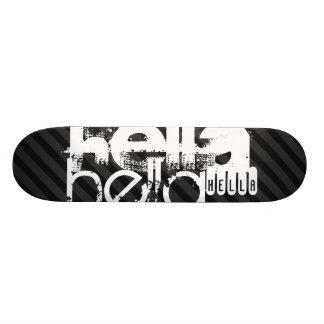 Hella; Black & Dark Gray Stripes Skateboard Deck
