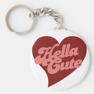 Hella Cute Basic Round Button Keychain