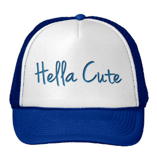Hella Cute Blue Trucker Hat