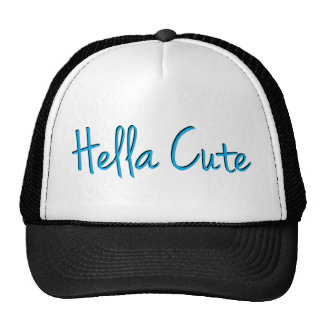 Hella Cute Lite Blue Trucker Hat