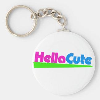 Hella Cute super hot chick Basic Round Button Keychain