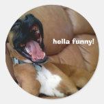 ¡hella del pegatina del perro divertido!