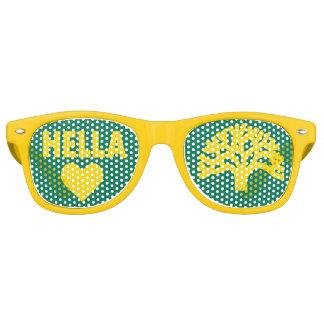 Hella Heart Oakland Oak Tree Party Glasses Retro Sunglasses