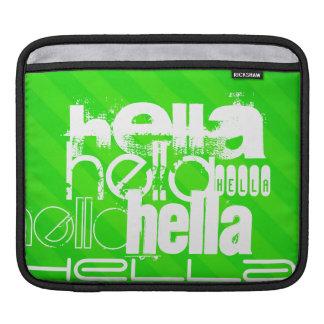 Hella; Rayas verdes de neón Funda Para iPads