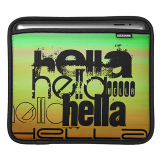 Hella; Verde vibrante, naranja, y amarillo Manga De iPad