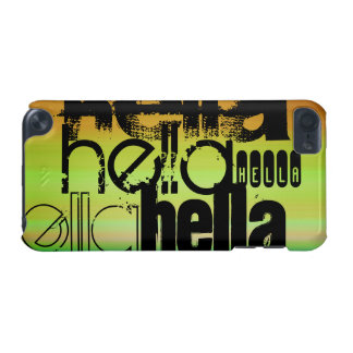 Hella; Vibrant Green, Orange, & Yellow iPod Touch 5G Cover