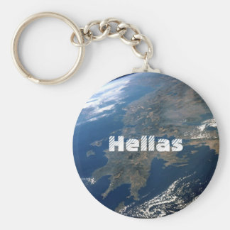 Hellas Basic Round Button Keychain