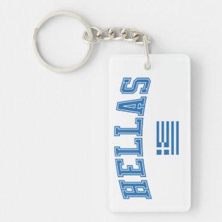 Hellas + Flag Double-Sided Rectangular Acrylic Keychain