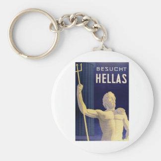 Hellas Greece Besucht Basic Round Button Keychain