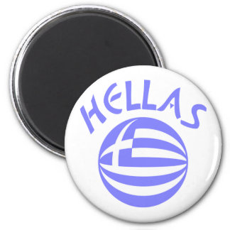 Hellas Sphere Flag Magnet