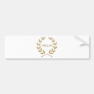 Hellas with Gold olive Wreath Bumper Sticker