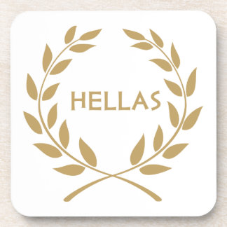 Hellas with Gold olive Wreath Coaster