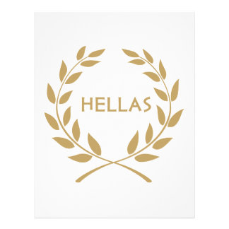 Hellas with Gold olive Wreath Letterhead