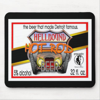 hellbound hot rod beer mouse pad