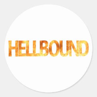 Hellbound Pegatina Redonda
