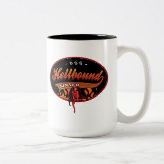 Hellbound Sinner Two-Tone Coffee Mug