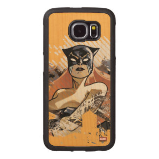Hellcat City Skyline Graphic Wood Phone Case
