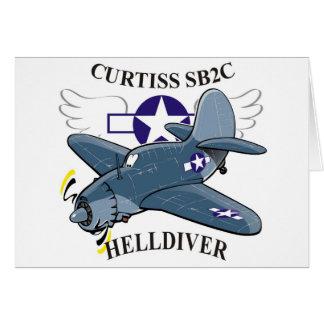 helldiver de los curtiss sb2c tarjeta de felicitación