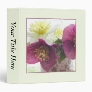 Hellebore and Daffodil Bouquet Binder