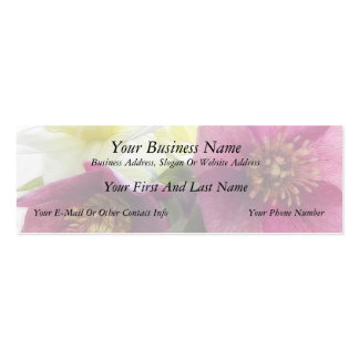 Hellebore and Daffodil Bouquet Double-Sided Mini Business Cards (Pack Of 20)