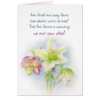 Words of sympathy messages loss of mother father the perfect gift hellebore flower condolences sympathy card m4hsunfo