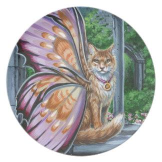 Hellebore Orange Fairy Cat Plate
