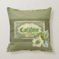 Hellebore Personal Customised Pillow