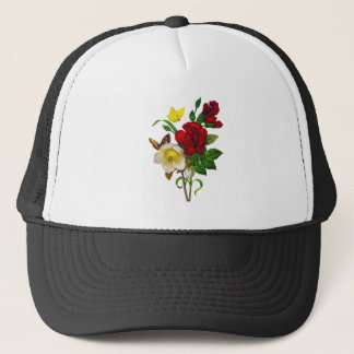 Hellebore, Roses and Butterflies by Redoute Trucker Hat